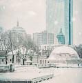 Boston Winter - Charles River by Joann Vitali
