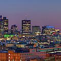 Boston's St. Patrick's Day Skyline Panorama by Kristen Wilkinson