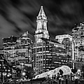 Boston's Waterfront In Black And White by Kristen Wilkinson