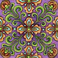 Botanical Mandala 10 by Amy E Fraser