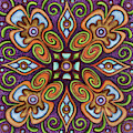 Botanical Mandala 11 by Amy E Fraser