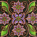 Botanical Mandala 6 by Amy E Fraser