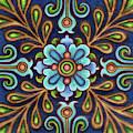 Botanical Mandala 9 by Amy E Fraser