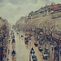 Boulevard Montmartre - Afternoon, In The Rain, 1897 by Camille Pissarro