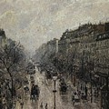 Boulevard Montmartre - Foggy Morning, 1987 by Camille Pissarro