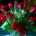 Bouquet Of Red Roses by Elly Potamianos