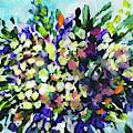 Bouquet Wildflowers Splash Floral Impressionism  by Irina Sztukowski
