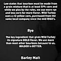 Bourbon Basics Black And White by Mel Steinhauer