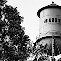 Bourbon Panoramic Monochrome Water Tower And Foliage by Gregory Ballos