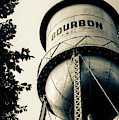 Bourbon Water Tower Framed By Foliage - Sepia Edition by Gregory Ballos