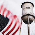 Bourbon Water Tower Usa Vintage - 1x1 by Gregory Ballos