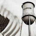 Bourbon Water Tower Usa Vintage - 1x1 Sepia by Gregory Ballos