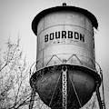 Bourbon Whiskey Barrel Water Tower - Bw Edition 1x1 by Gregory Ballos
