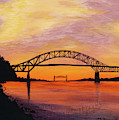 Bourne Bridge Sunset by Tracy Bowman