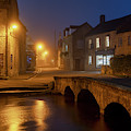Bourton On The Water At Dawn In Autumn by Tim Gainey