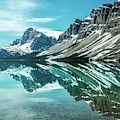 Bow Lake Reflection  by Claudia Abbott