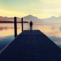 Bowman Lake In Glacier National Park by Galyna Andrushko