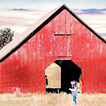 Boy And A Barn #digitalpainting by Andrea Anderegg