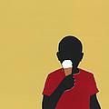 Boy Eating Ice Cream Cone by Amy Devoogd