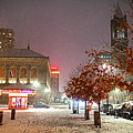 Boylston Street In The Winter Boston Ma by Toby McGuire