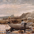 Boys In A Dory, 1880  by Winslow Homer