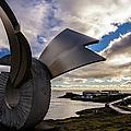Brakin Monument At Dusk, Borgarnes, Iceland by Lyl Dil Creations