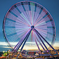 Branson Ferris Wheel In Color 1x1 by Gregory Ballos