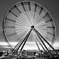 Branson Ferris Wheel In Monochrome 1x1 by Gregory Ballos