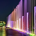 Branson Landing Fountain Waters Along Lake Taneycomo by Gregory Ballos