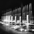 Branson Landing Fountains - Square Monochrome Edition by Gregory Ballos