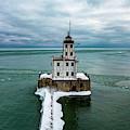 Breakwater Lighthouse by Randy Scherkenbach