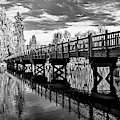 Bridge At Drake Park Black And White by David Millenheft