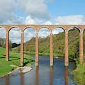 bridge over river Tweed near Melrose towards Gattonside by Victor Lord Denovan