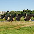bridge over river Tyne at Corbridge in summer by Victor Lord Denovan