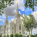 Brigham L D S Temple by Donna Kennedy