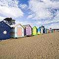 Brighton Beach Huts by Samvaltenbergs