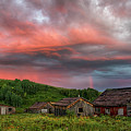 Brilliant Skies Over A Ghost Town Near Steamboat Springs Colorado by Dave Dilli