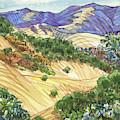 Briones From Mount Diablo Foothills by Judith Kunzle