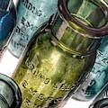 Bromo Seltzer Vintage Glass Bottles Collection - Rare Green And Blue #4 by Marianna Mills