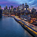 Brooklyn Bridge And Lower Manhattan Skyline by Susan Candelario