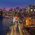 Brooklyn Bridge And Manhattan Skyline by Susan Candelario