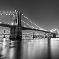 Brooklyn Bridge At Night by Adam Garelick
