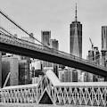 Brooklyn Bridge Dumbo Nyc Bw by Susan Candelario
