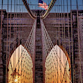 Brooklyn Bridge Nyc Sunrise by Susan Candelario