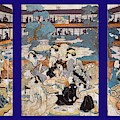 Brothel House Of Yoshiwara - Triptych Panel-2 by Paul W Faust - Impressions of Light