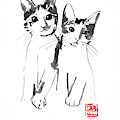 Brothers Cats by Pechane Sumie