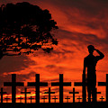 Brothers Farewell Salute  by David Dehner