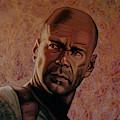 Bruce Willis Painting by Paul Meijering