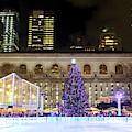 Bryant Park Christmas Skating Rink by John Rizzuto