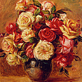Bunch Of Flowers By Pierre Auguste by Fine Art Images